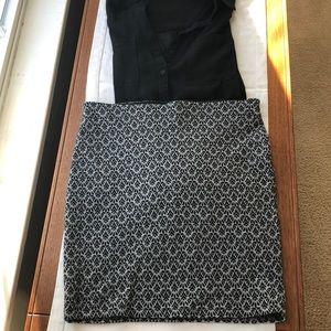 LOFT Paisley Printed Tube Skirt